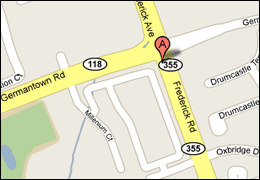 Manginos Location Map - 20510 Frederick Road Germantown, MD 20874