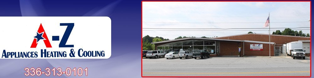 Kitchen Appliances - Thomasville, NC -  A-Z Appliances Heating & Cooling