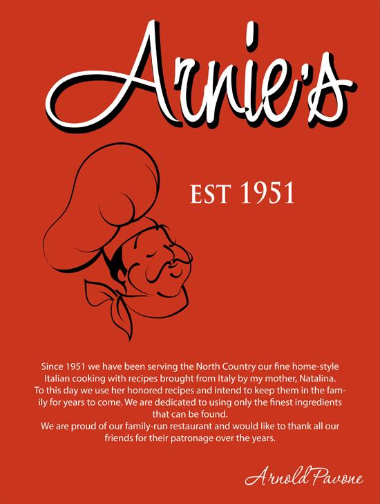 Menu  | Plattsburgh, NY | Arnie's Restaurant | 518-563-3003