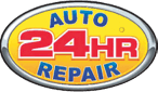 24 Hour Auto Repair Logo