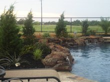 swimming pool contractor - Decatur, TX - Tom's Pool Service - waterfall