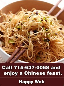 Chinese Restaurant - Barron, WI - Happy Wok Call 715-637-0068 and enjoy a Chinese feast.