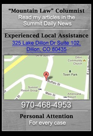 Mountain Law Articles, Attorney Publications - Breckenridge, CO - The Klug Law Firm, LLC
