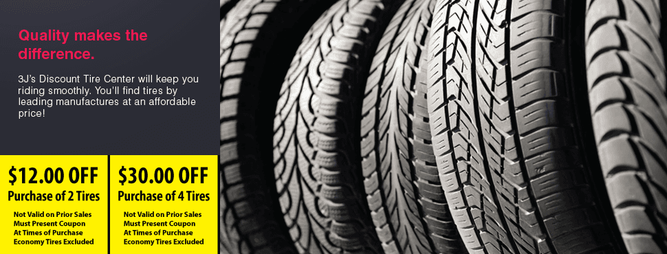 Tires | Swarthmore, PA | 3J's Discount Tire Center | 610-328-2850