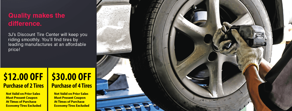 Performance tires | Swarthmore, PA | 3J's Discount Tire Center | 610-328-2850