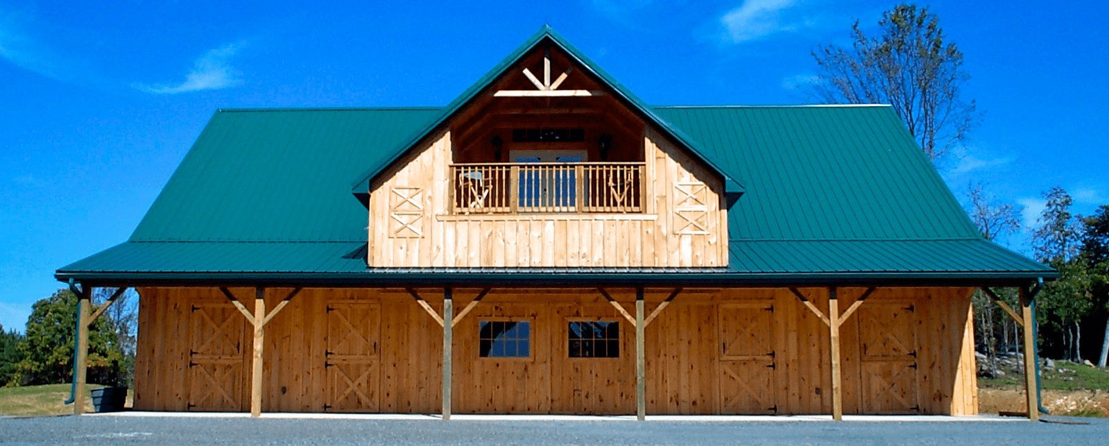 Barn metal roofing