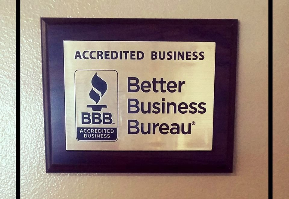 BBB accredited business plaque