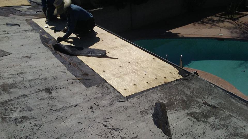 work in progress roofing service
