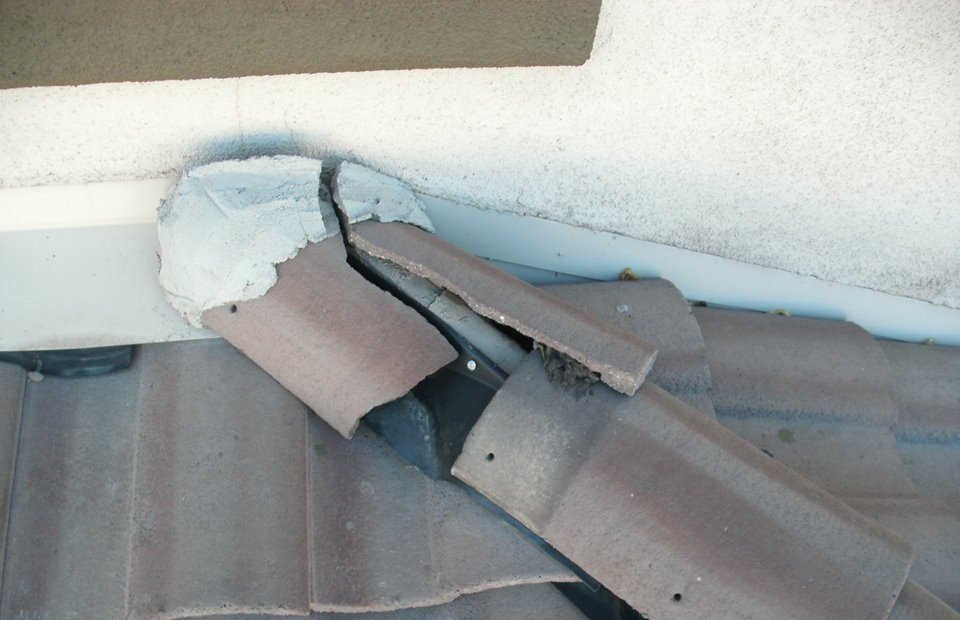 roofing repair of a residential house