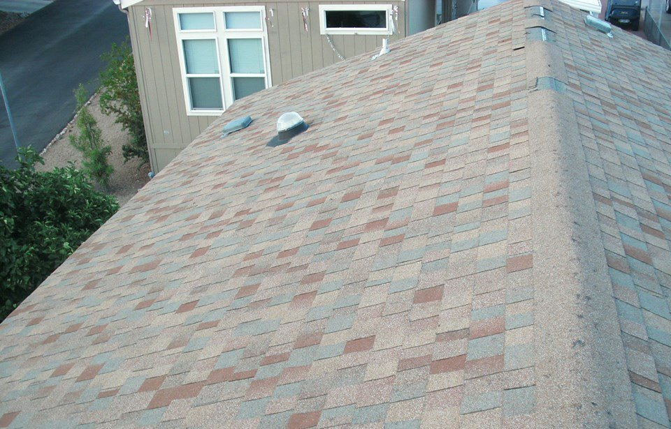 completed roofing for a residential house