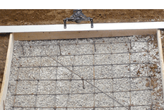 laying the concrete foundation