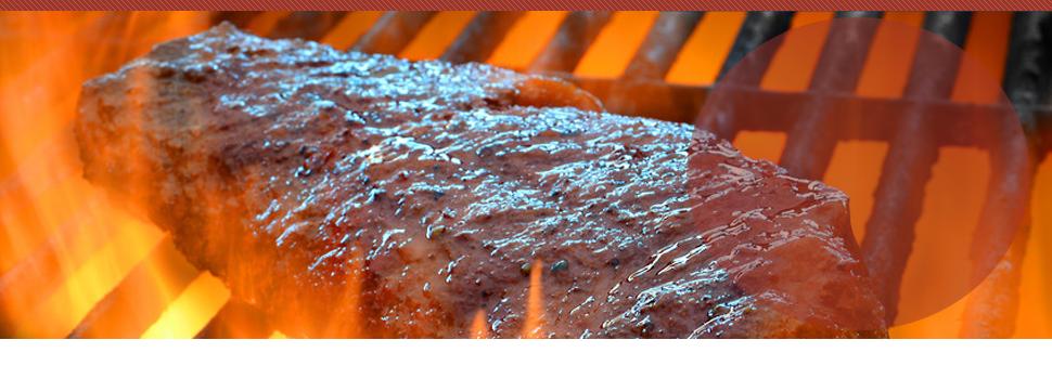 Pork ribs grilling