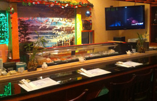Mizu Sushi's food counter