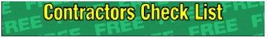 Contractors check list