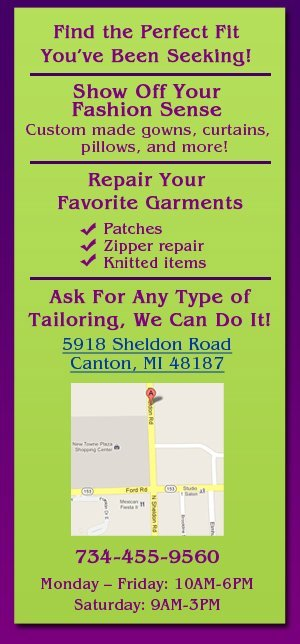 Custom-made gowns, pillows, curtains - Canton, MI - Mia's Alterations
