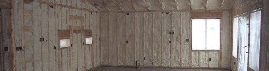 Spray foam interior insulation