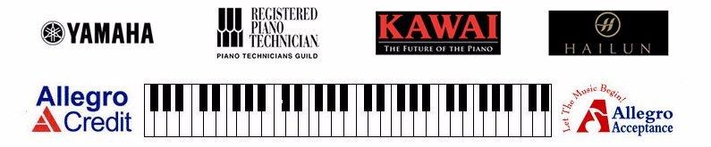 Yamaha, Registered Piano Technician, Kawai, Hailun, Steinway & Sons, Allegro Credit, Allegro Acceptance