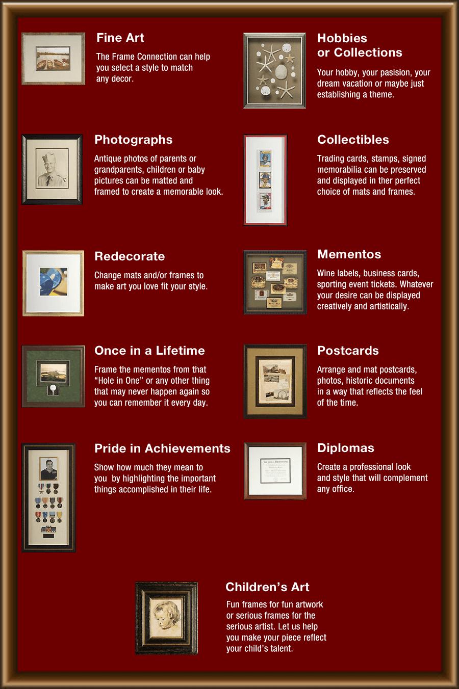 Framing Design Ideas  | Salem, VA | The Frame Connection | 540-375-0895