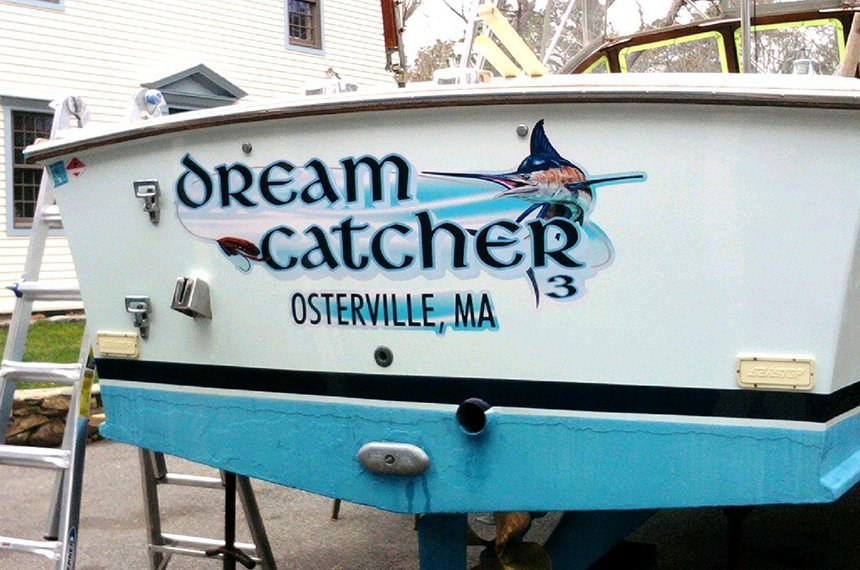 Dream Catcher signage made by Sign It!