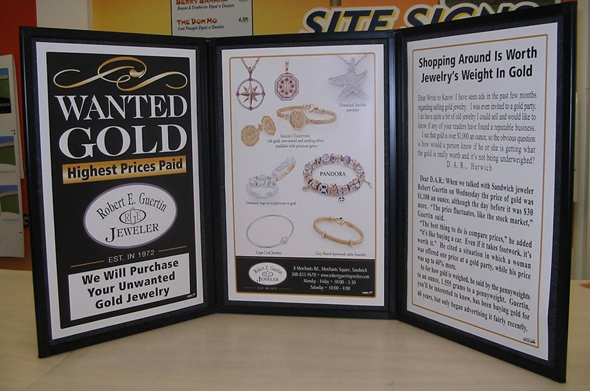 jewelry store signage printed by Sign It!