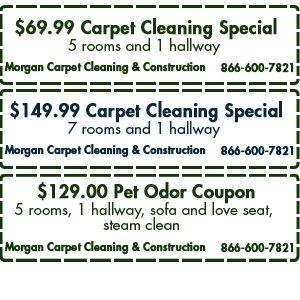 Carpet Cleaning - Atlanta, GA - Morgan Carpet Cleaning & Construction