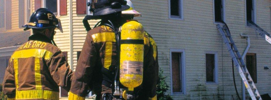 Cylinders firemen wear on back