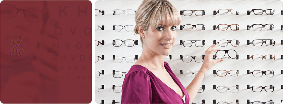 Optometrist choosing eyewear