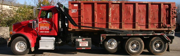 Rol container truck