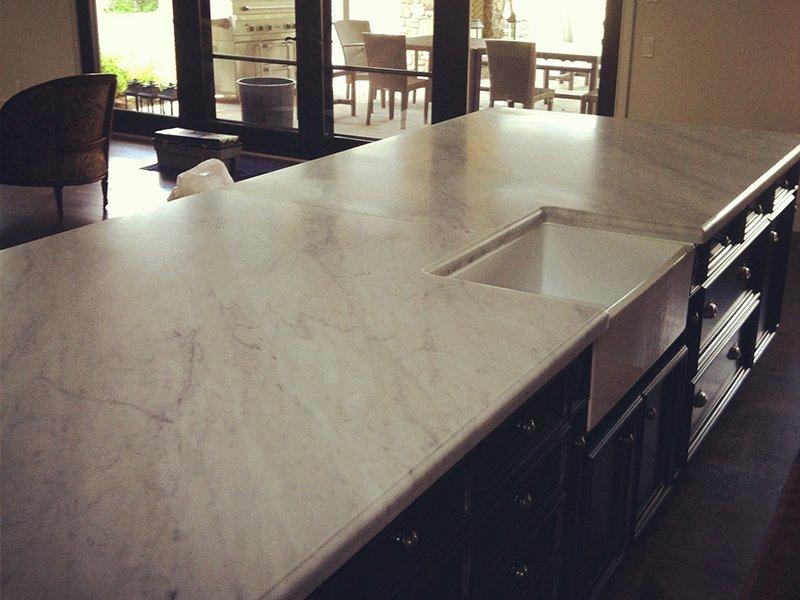 White countertop