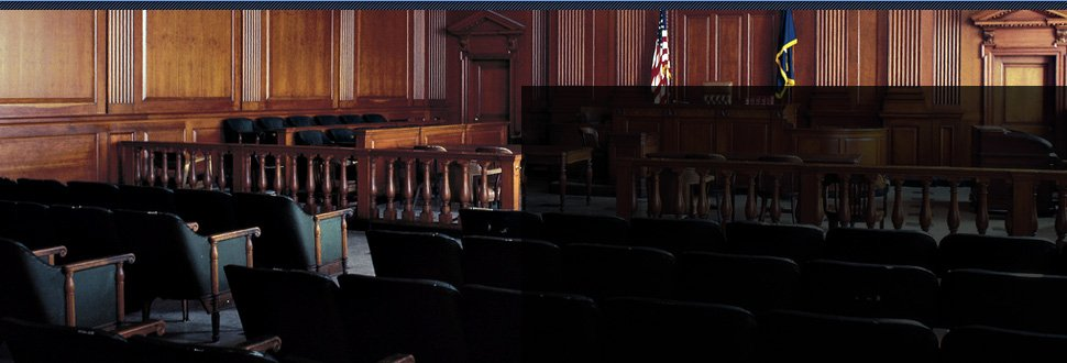 Courtroom for legal services