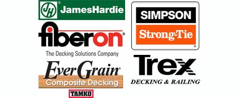 JamesHardie, Fiberon, EverGrain, Simpson Strong-Tie, Trex