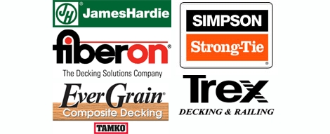 JamesHardie, Fiberon, EverGrain, Simpson Strong-Tie, Trex