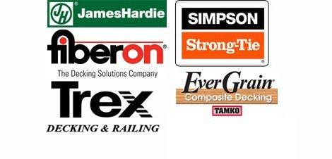 JamesHardie, Fiberon, Trex, Simpson Strong-Tie, EverGrain