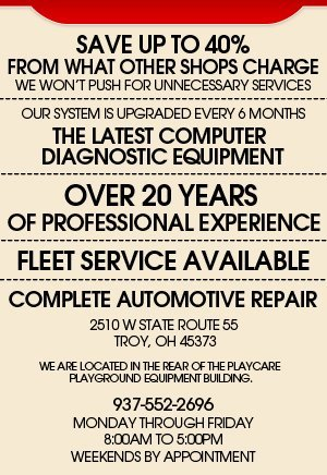 Auto Mechanic - Troy, OH - Affinity Car Care