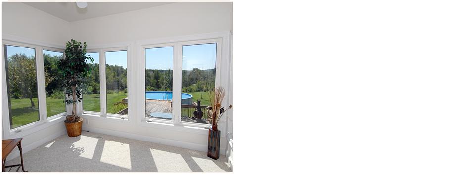 Windows in sunroom