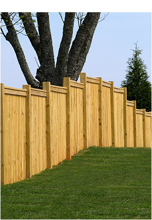 Beautiful wooden fence