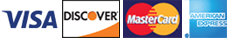 Visa | Discover | MasterCard | American Express
