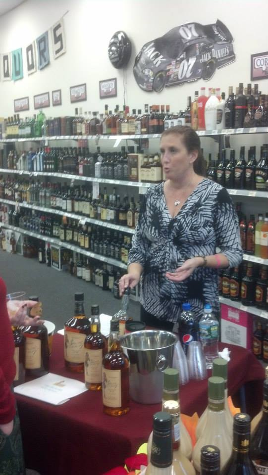 woman at tasting event