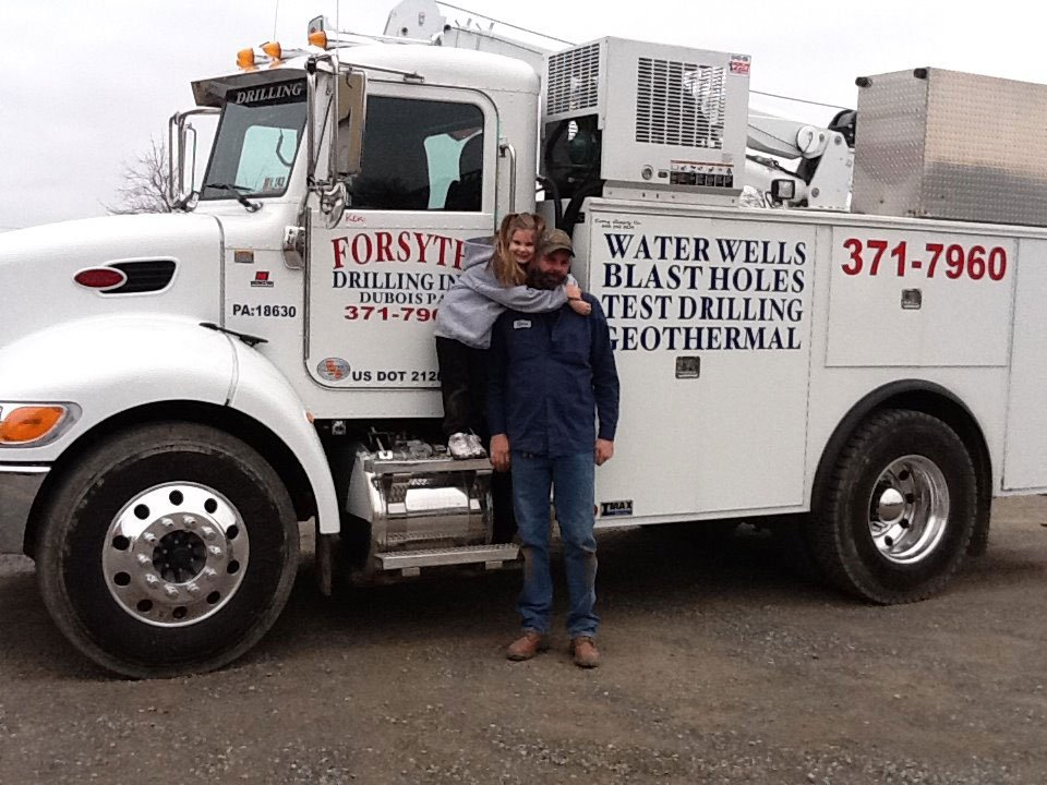 Forsyth Drilling Inc. owner with truck