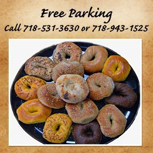Bakery - Brooklyn, NY  - Mill Basin Bagel Café - FREE Parking Call 718-531-3630 or 718-943-1525
