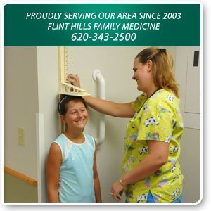 Family Practice - Emporia, KS  - Flint Hills Family Medicine - Nurse Checking up a Kid - Proudly Serving Our Area for 6 Years  Flint Hills Family Medicine 620-343-2500