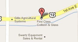 First Class Collision & Glass 4289 Hwy 12 E, Willmar, MN 56201