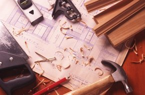 Architecural tools on top of a blueprint