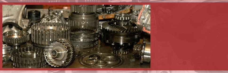 Disassembled parts of transmission