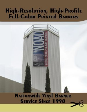 Vinyl Banners - Tucson, AZ - Watermark Resources LLC Printing & Graphic Services - pinting - High-Resolution, High-Profile, Full-Color Printed Banners - Nationwide Vinyl Banner Service Since 1998