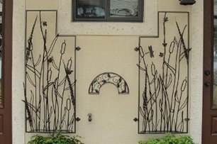 Custom ornamental iron work  - front of house