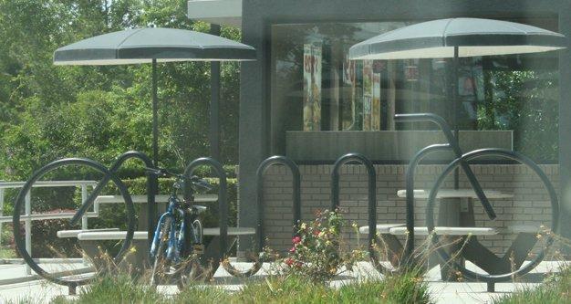 Ornamental bike rack