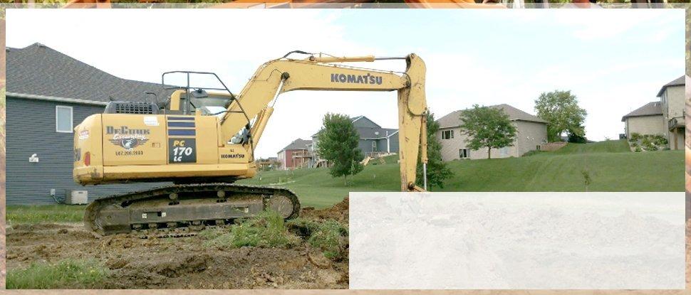 Excavation | Byron, MN | DeCook Excavating | 507-365-8730