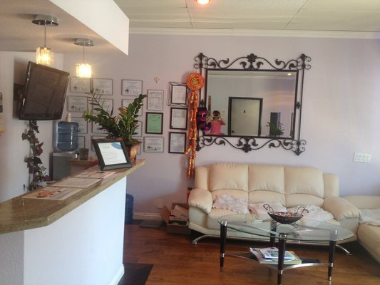 Angel massage center reception