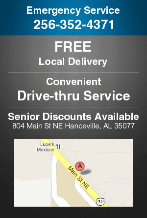 Drive-thru Service - Hanceville,  AL  - Blue & Gray Drugs